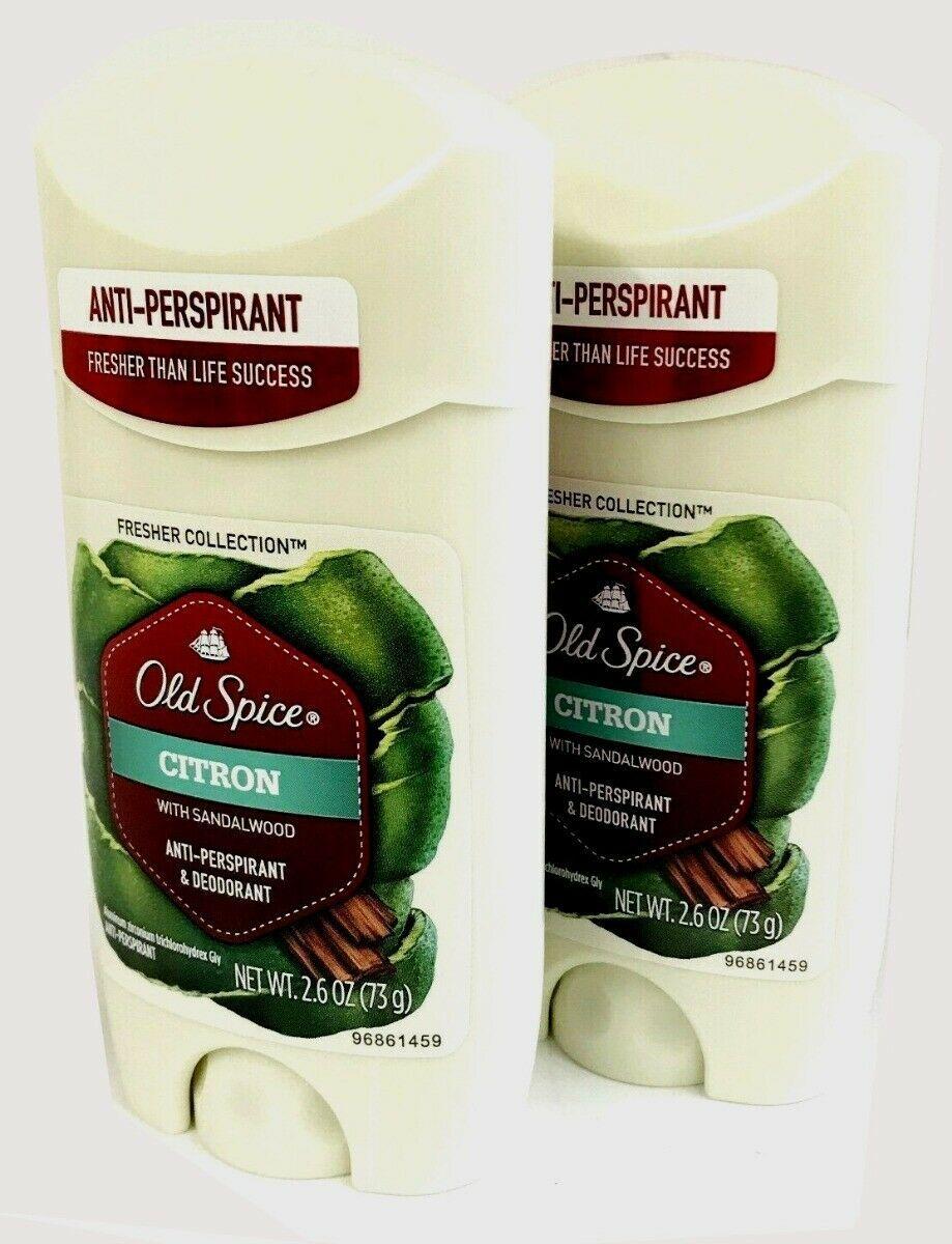 2 Old Spice Citron Sandalwood Deodorant/Anti Perspirant Mens 2.6 oz Solid Lot image 7