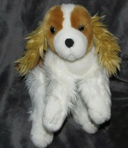 "TOYS R US STUFFED PLUSH WHITE BROWN COCKER SPANIEL DOG PUPPY 2010 12"" - $44.54"