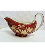 Wedgwood Ruby Tonquin Gravy Boat Red Gold Rare Near Mint 1950s - $116.86