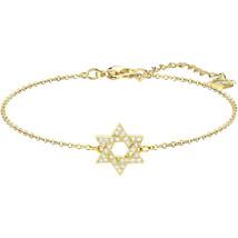 Authentic Swarovski Star Of David Bracelet, Gold Plating - $51.61