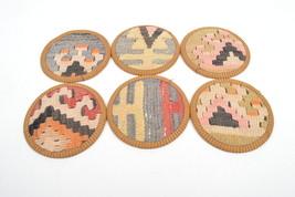 kilim coaster,drink coasters,coffee Coaster,handmade,Kilim Coaster,4,5 inc 12cm - $29.00