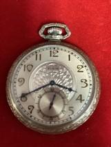 Elgin 17 Jewels Art Deco Pocket Watch 300887992  10K Gold Filled Runs!! - $94.05