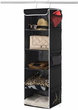 Shelf Hanging w/ 6 Pockets and 5 Shelves Black STORAGE! ORGANIZATION! - €26,84 EUR