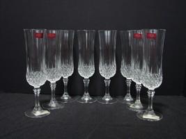 Set of 8 Cristal d' Arques Champagne Flutes Longchamps Pattern NEW - $40.00
