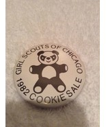 """Vintage 1982 Chicago Girl Scouts Cookie Sale Button Pin Back 2 1/4"""" Rare - $8.97"""