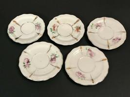 Vintage Made in Japan Child's Tea Set Saucers - Set of 5 - $4.94
