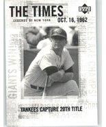 2001 Upper Deck Legends of NY #191 Mickey Mantle TT - New York Yankees (... - $1.99
