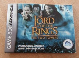 Lord of the Rings The Two Towers Nintendo Game Boy Advance Instruction Manual - $4.11