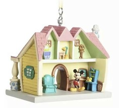 Disney Parks Mickey Mouse Toon Town House Resin Ornament New with Tags - $39.95