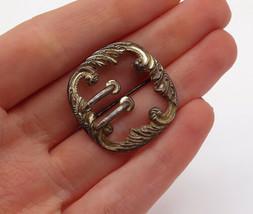 925 Sterling Silver - Vintage Baroque Swirl Designed Brooch Pin - BP4847 - $26.19