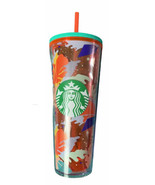 ✨Starbucks Tumbler Hibiscus Leaf  24 oz Red Acrylic Cold Cup New! - $44.55