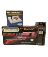 Nintendo Entertainment System Original Box NES Advantage Controller & 23... - $300.00