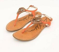 Sam Edelman Orange Sling Back Thong Flat Sandal Women's Size 8M - $19.82