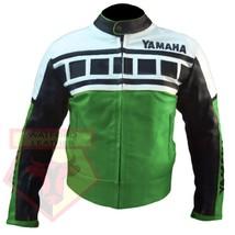 YAMAHA 6728 GREEN MOTORBIKE MOTORCYCLE ARMOURED COWHIDE LEATHER JACKET - $194.99