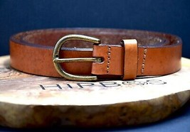 John Lewis Womens Leather Belt Brown Size Medium - $17.69