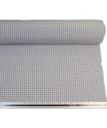 Silver White Gingham Check Cotton Blend High Quality Fabric Material *3 ... - $1.97