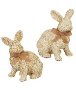 "RAZ Imports Farm to Table 13.25"" Floral Rabbit, Assortment of 2 Figurines - $99.99"