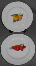 Set (2) Royal Worcester SOMERSET FRUITS PATTERN Salad Plates ENGLAND - $31.67