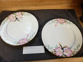 "Noritake Azalea 10"" Dinner Plates Red Mark (2) - $12.60"