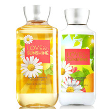 Bath & Body Works Love & Sunshine Body Lotion + Shower Gel Duo Set - $26.41