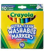 Crayola Ultraclean Broadline Classic Washable Markers (2-Pack) - $14.72
