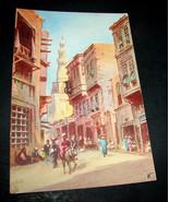 Antique Postcard CAIRO Raphael Tuck & Sons OILETTE Native Street Mouski ... - $28.49