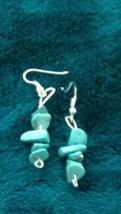 turquoise beaded dangling earrings pierced - $19.99