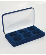 Felt COIN DISPLAY GIFT METAL PLUSH BOX holds 6-IKE or 6 Silver Eagles ASE - $13.98