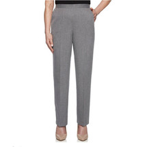 Alfred Dunner Women's Classic Fit Pant Gray 12 Petite Pull On Light Weig... - $18.80