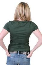 Rogue Status Mujer Júnior Hunter Verde/Negro Carlin Armado Cerrado Rock T-Shirt image 3