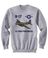 B-17 FLYING FORTRESS USA AIR FORCE WWII - NEW COTTON GREY SWEATSHIRT - $33.52