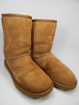 UGG Classic Short Sheepskin Chestnut Boots Size 5 M (B) EU 36 Brown Model # 5825