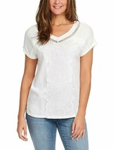 Gloria Vanderbilt Ladies' Women's V-Neck Embroidered Blouse T-Shirt Tops - $19.90+