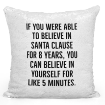 Sequin Pillow With Stuffing Santa Clause Self Motivation Teens Pillow 16... - $34.25