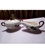 Metlox California Ivy Hand Painted PoppyTrail Creamer and Sugar bowl with lid - $35.00