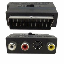 New SCART Male Plug to 3 RCA Female A/V Audio Video Adaptor Converter for TV DVD - $3.17