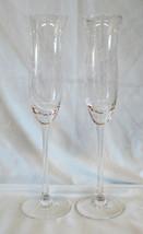 Lenox Heather Fluted Champagne Glass Goblet Stem Set of 2 - $34.54