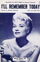 I'll Remember Today [Sheet music] [Jan 01, 1957] Words by William Engvic... - $26.77