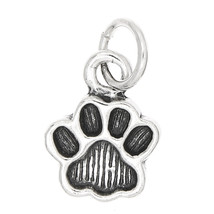 STERLING SILVER SMALL ANIMAL PAW PRINT CHARM/PENDANT - $8.59