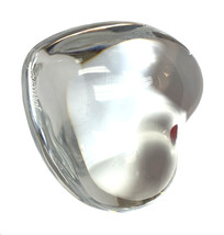 Baccarat Crystal Puffy glass heart paperweight - $29.00
