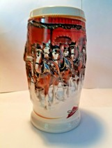 Budweiser 2006 Bud Holiday Stein Clydesdale Beer Mug Series Tradition CS670 - $23.92