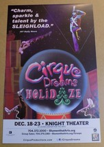 Cirque Dreams Holidaze Broadway Show Window Card Poster 14 x 22 Knight T... - $29.99