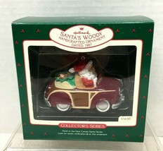 1987 Here Comes Santa's Woody #9 Hallmark Christmas Tree Ornament MIB Tag - $29.21