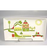 Crate & Barrel YULE TOWN appetizer tray Julia Rothman Christmas dish hol... - $18.08