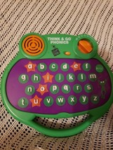 Think & Go Phonies Leapfrog Interactive Learning Toy Green ABCs Numbers - $19.79