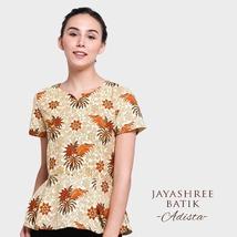 Jayashree Adista Blouse Beige Woman Batik Made in Indonesia - $59.00