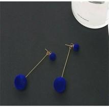 Fashion Plush Ball Drop Earrings Velvet Round Tassel Long Dangle Women E... - $4.77