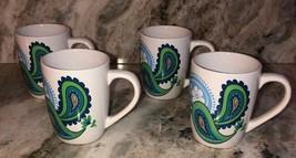 "Royal Norfolk 4 1/2"" Coffee Cups Mugs Set Of 4 Blue Green(New)SHIPS N 24HR RARE - $29.58"