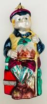 "Dept 56 Tiny Tim Christmas Carol Ornament Dickens Hand Blown Painted Glass 5.5""b - $12.59"