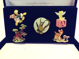 New Walt Disney Classic Collection Pin Collection Donald Daisy Tinkerbell Bambi - $39.99